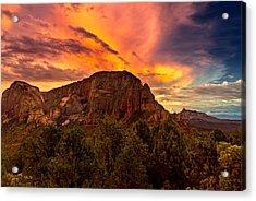 Sunset Over Timber Top Mountain Acrylic Print