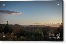 Sunset Over Top Of Dense Forest Acrylic Print