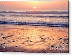 Sunset Over Torrey Pines Beach La Jolla California Acrylic Print by Julia Hiebaum