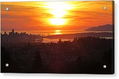 Sunset Over Vancouver Acrylic Print