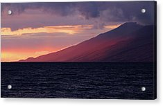 Sunset Over West Maui Acrylic Print