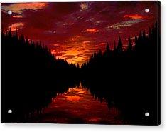 Sunset Over Wetlands Acrylic Print