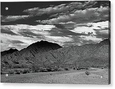 Sunset Over Yuma Mountain Acrylic Print