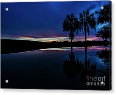 Acrylic Print featuring the photograph Sunset Palms by Brian Jones