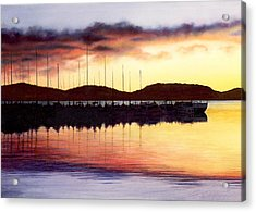 Sunset Panorama Left Side Acrylic Print