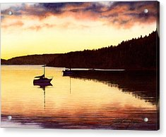 Sunset Panorama Right Side Acrylic Print