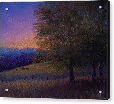 Sunset Pasture Acrylic Print