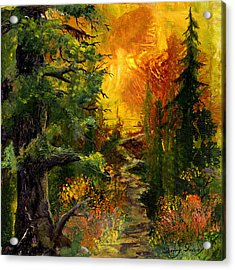 Sunset Path Acrylic Print