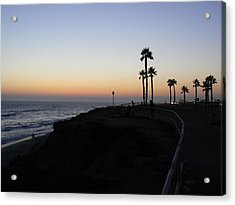 Sunset Pch 2006 Acrylic Print by Ron Hayes