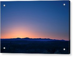 Sunset Mountains - New York State  Acrylic Print by Photography