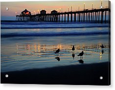 Sunset Pier Acrylic Print by Pierre Leclerc Photography