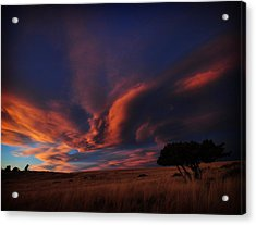 Sunset Plains Acrylic Print