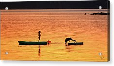 Sunset Play Acrylic Print by Rick Lawler