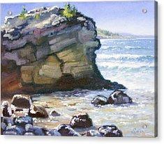 Sunset Point- Presque Isle Park- Lake Superior Acrylic Print by Larry Seiler