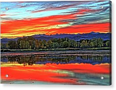 Acrylic Print featuring the photograph Sunset Ponds by Scott Mahon