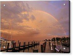 Acrylic Print featuring the photograph Sunset Rainbow by Jennifer Casey