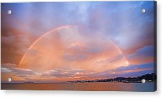 Sunset Rainbow Acrylic Print