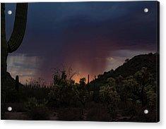 Sunset Rainfall Acrylic Print