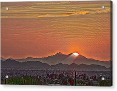 Acrylic Print featuring the photograph Sunset Rays Remix by Dan McManus