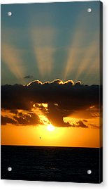 Sunset Rays Acrylic Print by Val Jolley