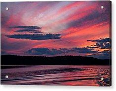 Sunset Red Lake Acrylic Print