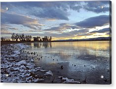 Sunset Refections Acrylic Print by James Steele