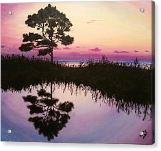 Sunset Reflection Acrylic Print