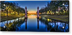 Sunset Reflection Acrylic Print by Marvin Spates