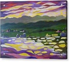 Sunset Reflection Acrylic Print by Saga Sabin