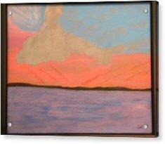 Sunset Reflections Acrylic Print by Chris Heitzman
