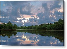 Acrylic Print featuring the photograph Sunset Reflections by Lori Coleman