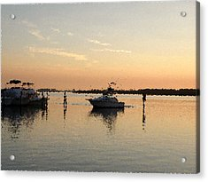 Sunset Reflections Acrylic Print by Rose  Hill