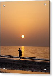 Sunset Reflections Acrylic Print by Sunaina Serna Ahluwalia