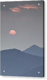 Sunset Repition - Blue Ridge Parkway Sunset Scene Acrylic Print by Rob Travis