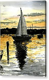 Sunset Ride Acrylic Print by Paul Gardner