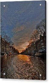 Sunset Ripples Acrylic Print