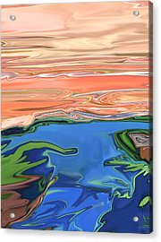 Sunset River Acrylic Print by Kate Collins