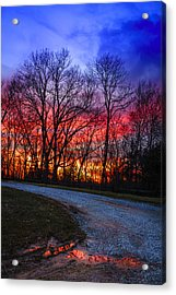 Sunset Road Acrylic Print by Alexey Stiop