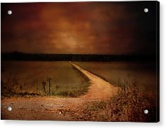 Sunset Road Landscape Art Acrylic Print by Jai Johnson