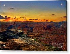 Sunset Rock Beauty Acrylic Print by Jeff McJunkin