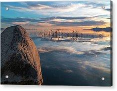 Sunset Rock Acrylic Print by Justin Johnson
