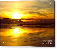 Sunset Roemoe Acrylic Print by Sascha Meyer