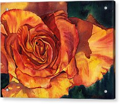 Sunset Rose Acrylic Print by Leslie Redhead