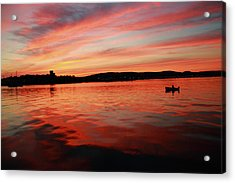 Sunset Row Acrylic Print