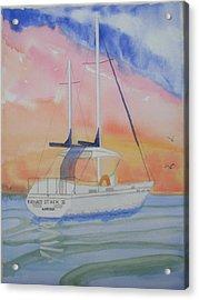 Sunset Sail 2 Acrylic Print by Warren Thompson