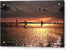 Sunset Sail - Bermuda Acrylic Print by Judy Palkimas