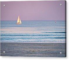 Sunset Sail - Ogunquit -maine Acrylic Print