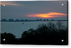 Sunset Sail On Sarasota Bay Acrylic Print