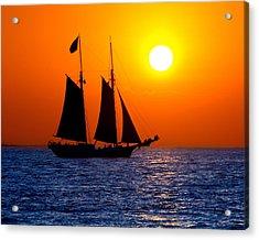 Sunset Sailing In Key West Florida Acrylic Print