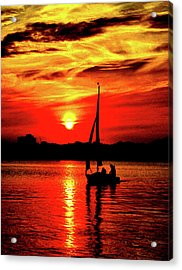 Sunset Sailing No. 2 Acrylic Print by Colin Hunt